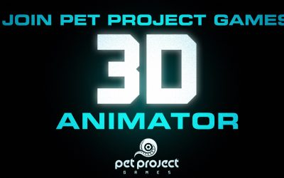 Pet Project Games Is Looking for a 3D Animator